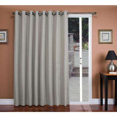 Tacoma 106 in. W x 84 in. L Polyester Double Blackout Grommet Patio Panel in Stone