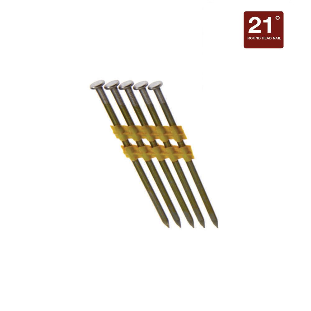 Grip-Rite 3-1/4 in. x 0.148 in. 21° Vinyl-Coated Framing Nails ...