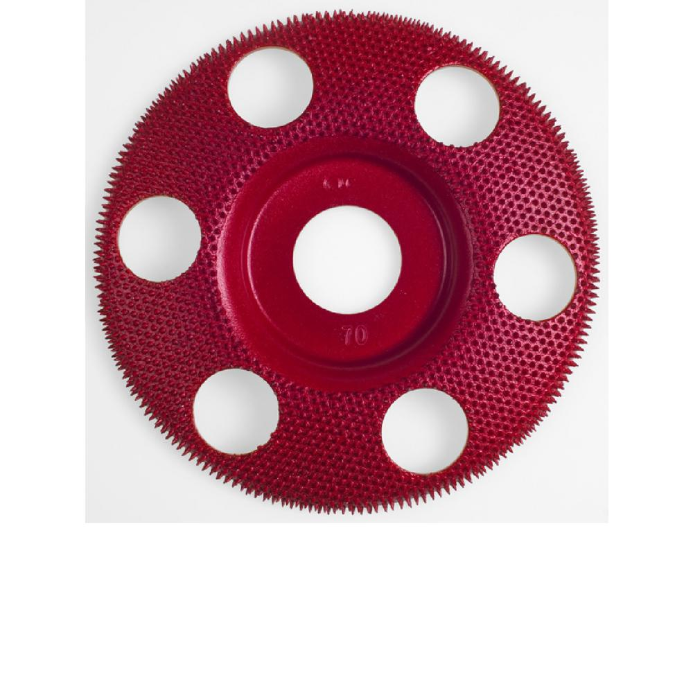 4 in. Flat Red Medium 70 Grit Disc for Woodworking