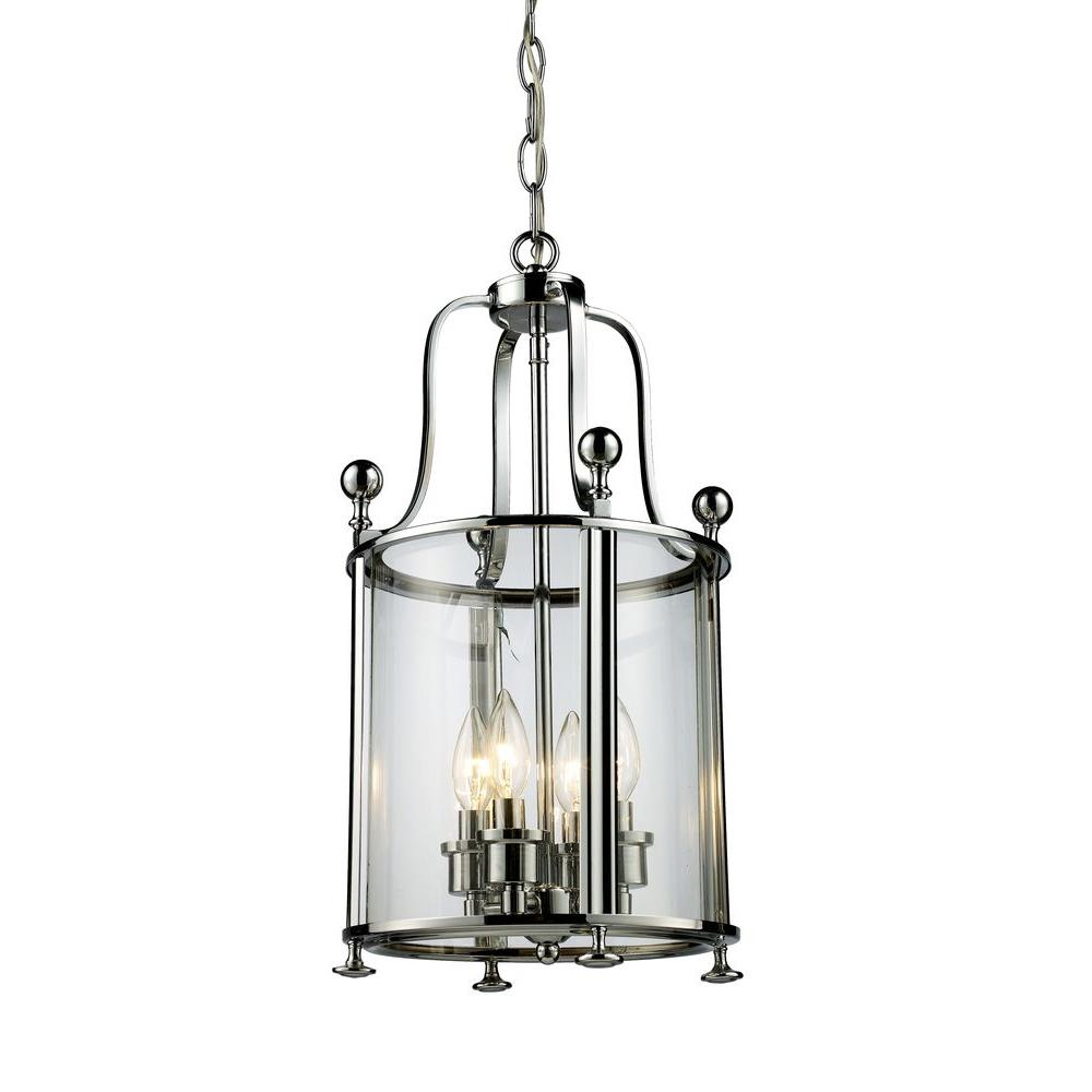 Filament Design Lawrence 4-Light Chrome Incandescent Ceiling Pendant