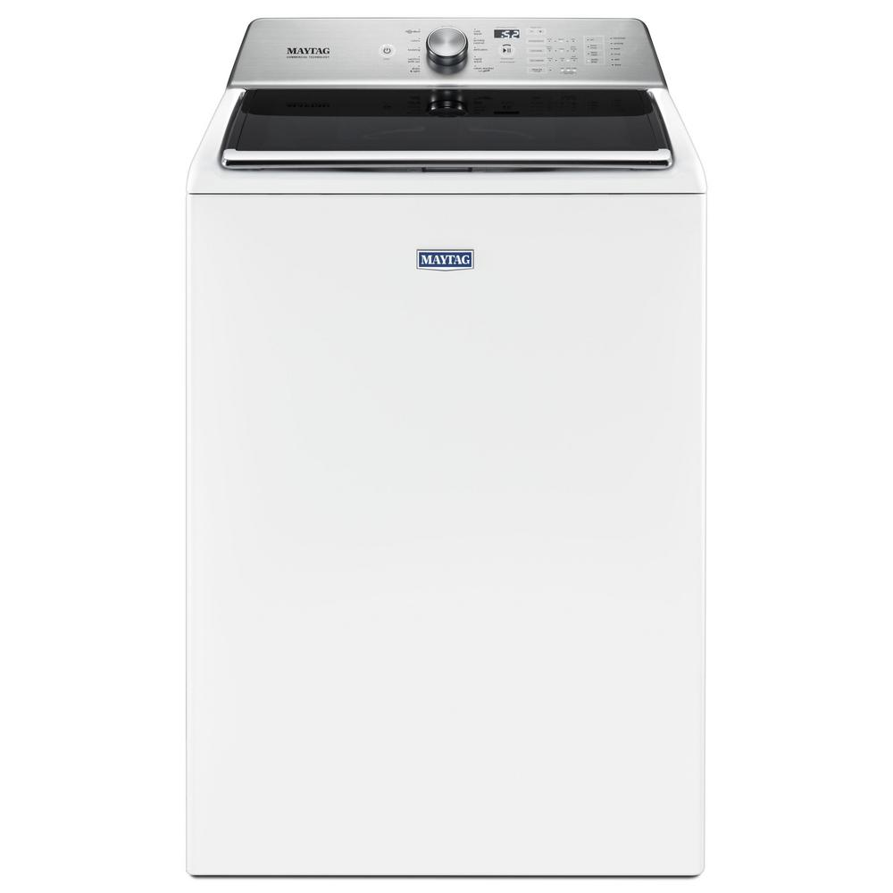 Maytag 5.2 cu. ft. Top Load Washer with the Deep Fill Option and Power Wash Cycle in White