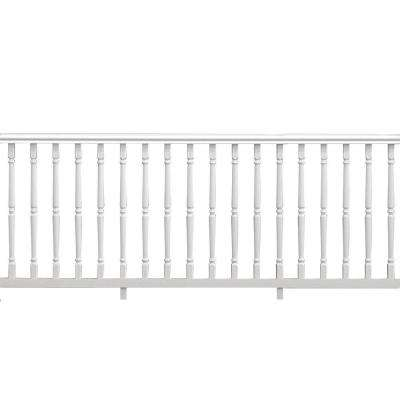 Williamsburg 8 ft. x 36 in. White Vinyl Rail Kit with Colonial Spindles