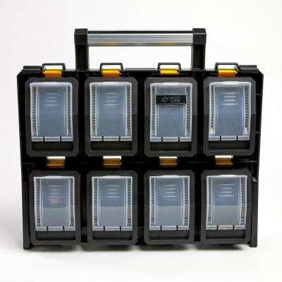 8-Compartment Wall Mount Quick Release Small Parts Organizer, Yellow