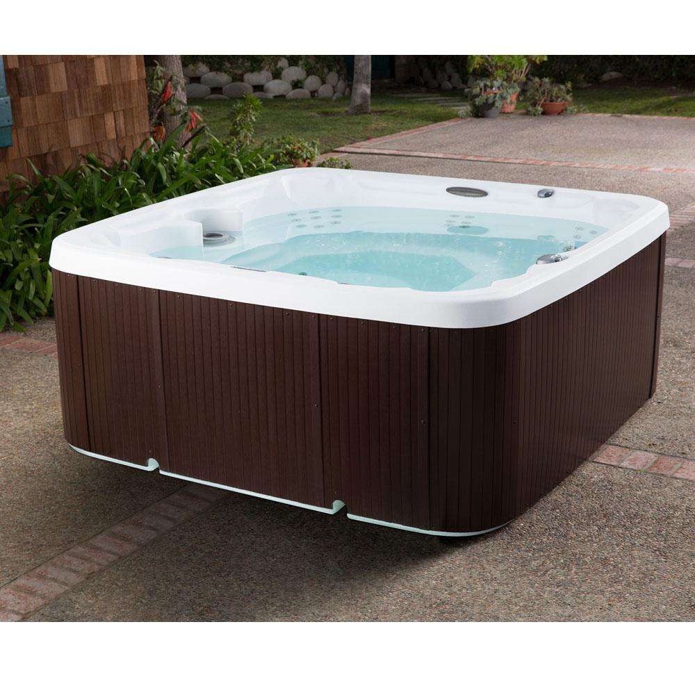 Jacuzzi tubs romantic ohio hot tub suite jacuzzi hot tub for How long is a standard tub