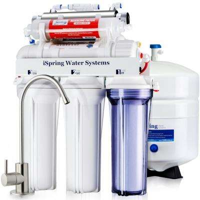 DELUXE UnderSink 7-Stage Reverse Osmosis Drinking Water Filtration System with Alkaline and UV - WQA Gold Seal Certified