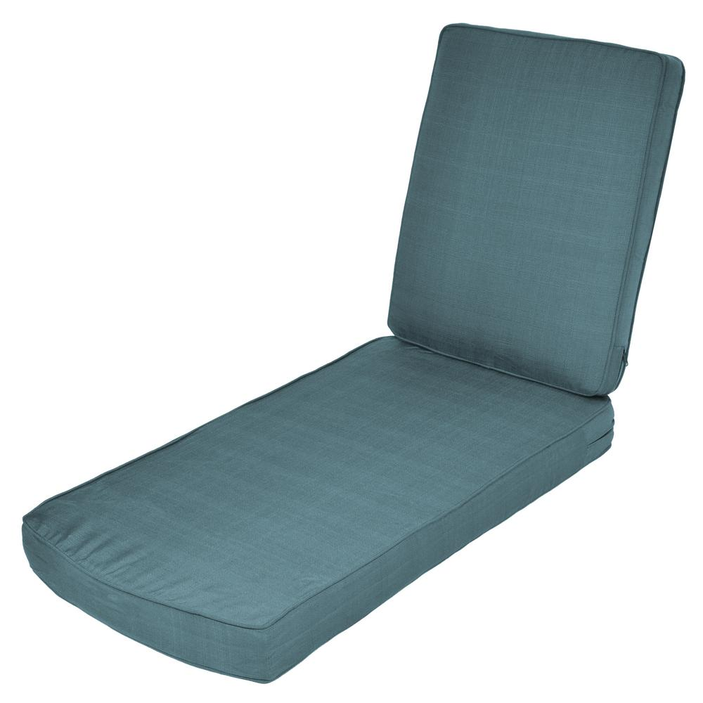 Charleston replacement 2 piece outdoor chaise cushion