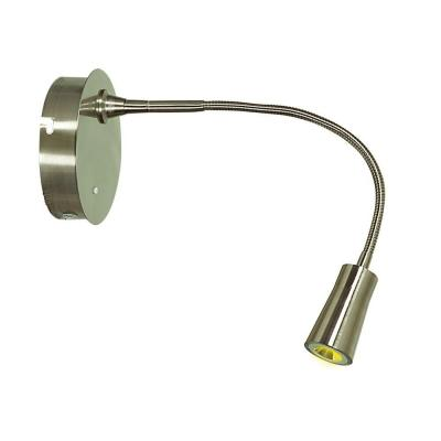 Epiphanie 16 in. 1-Light Stainless Steel Gooseneck Wall Lamp