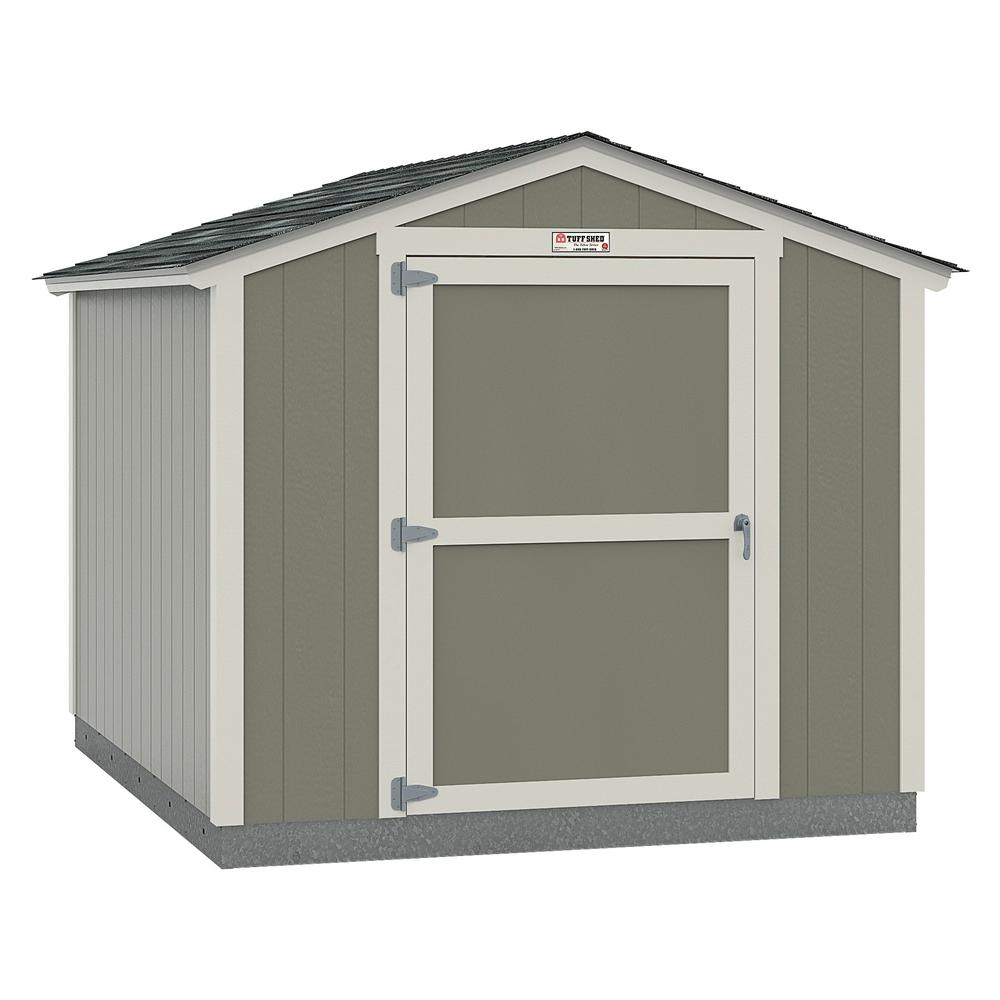 Tuff Shed Installed The Tahoe Series Standard Ranch 8 ft. x 10 ft. x 7 ft. 10 in. Painted Wood Storage Building Shed, Grays -  8x10 SR E1