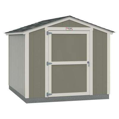 Installed Tahoe 8 ft. x 10 ft. x 7 ft. 10 in. Painted Wood Storage Building Shed with Shingles and Endwall Door