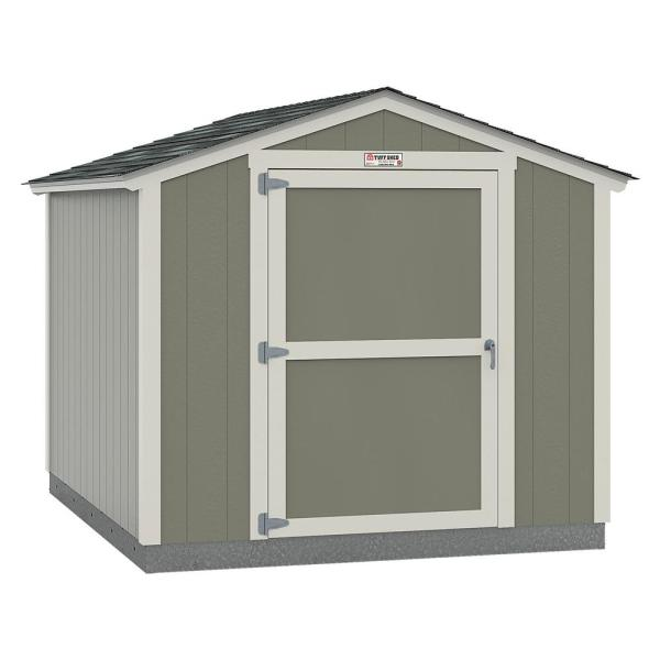 Installed The Tahoe Series Standard Ranch 8 ft. x 10 ft. x 7 ft. 10 in. Painted Wood Storage Building Shed