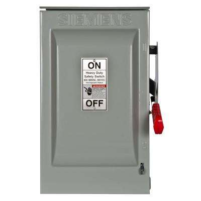 Heavy Duty 60 Amp 600-Volt 2-Pole Outdoor Fusible Safety Switch