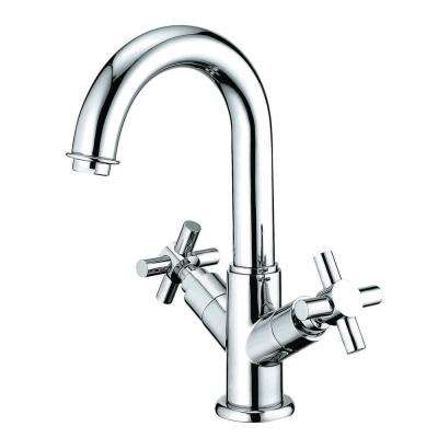 Euro Single-Hole 2-Handle Bathroom Faucet in Polished Chrome