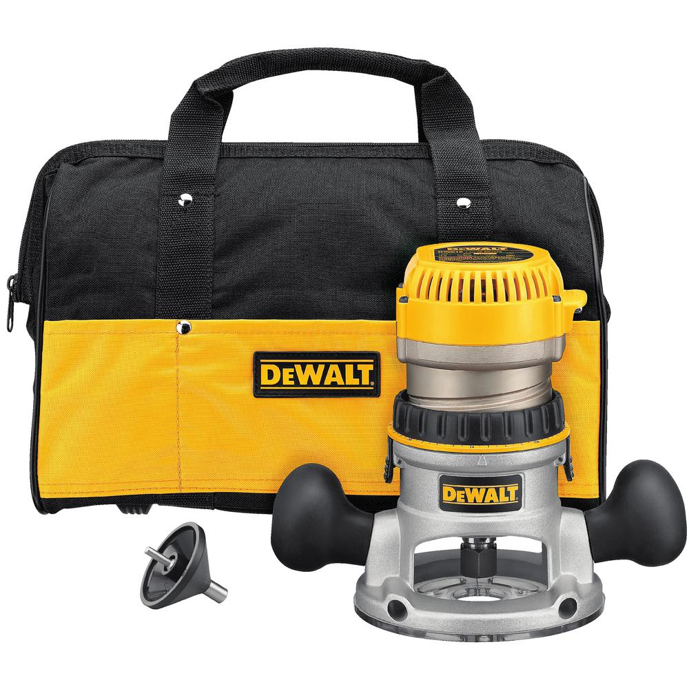 Dewalt 1 34 hp fixed base router kit dw616k the home depot dewalt 1 34 hp fixed base router kit greentooth Gallery