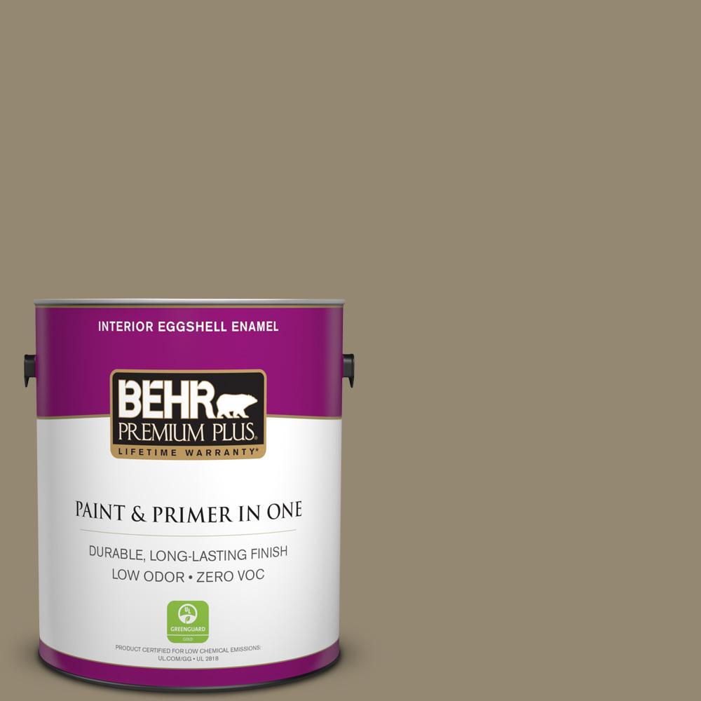 1 gal. #PPU8-03 Dry Pasture Zero VOC Eggshell Enamel Interior Paint