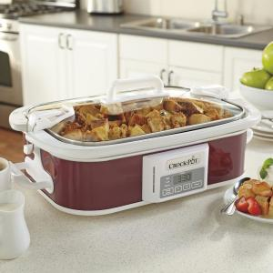 Click here to buy Crock-Pot 3.5 Qt. Programmable Casserole Crock Slow Cooker in Cranberry by Crock-Pot.
