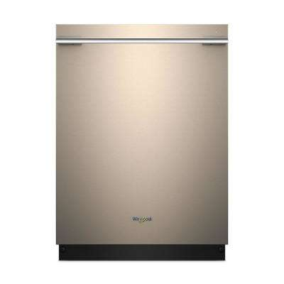 24 in. Top Control Smart Built-In Tall Tub Dishwasher in Sunset Bronze with Contemporary Handle