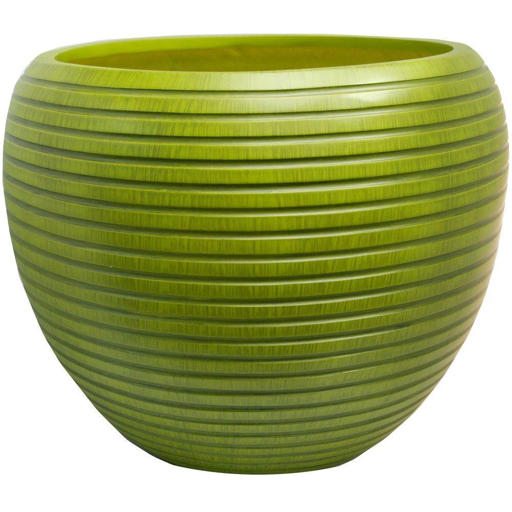 Lee's Pottery 14 in. W x 11.5 in. H Wildwood Fiberglass Planter