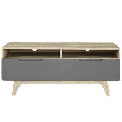 Origin 47 in. Natural Gray TV Stand