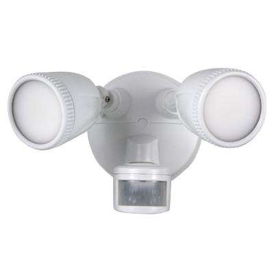 1200-Lumens 180-Degree White Motion Activated Outdoor Integrated LED Flood Light