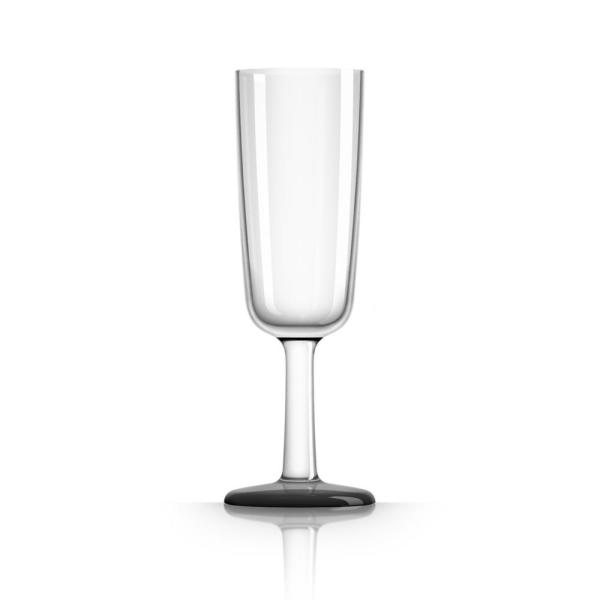 Marc Newson 6 oz. Champagne Flute Tritan with Black Non-Slip Base