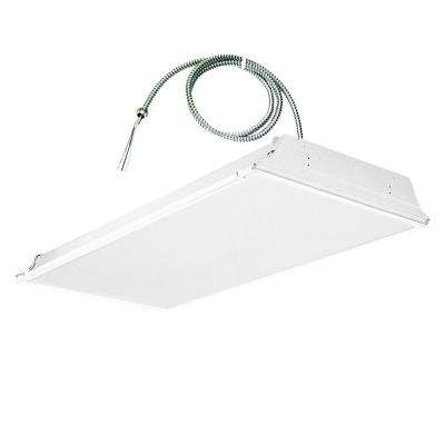 2 ft. x 4 ft. White Lens LED Backlit Grid Ceiling Troffer with 6 ft. Whip