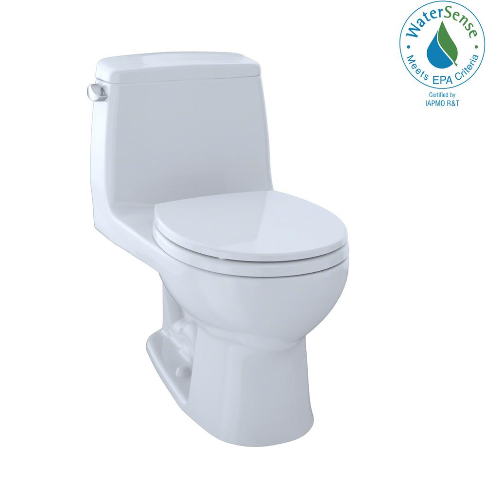 Toto Eco Ultramax 1 Piece 128 Gpf Single Flush Round Toilet In