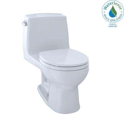 Eco UltraMax 1-Piece 1.28 GPF Single Flush Round Toilet in Cotton White, Seat Included