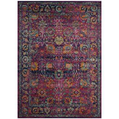 Granada Fuchsia/Multi 7 ft. x 9 ft. Area Rug