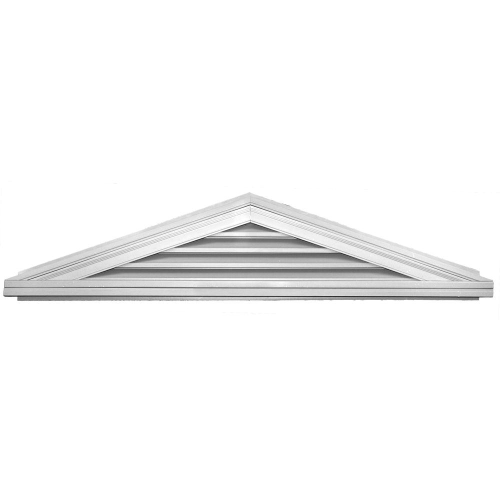 Builders Edge 4/12 Triangle Gable Vent #001 White
