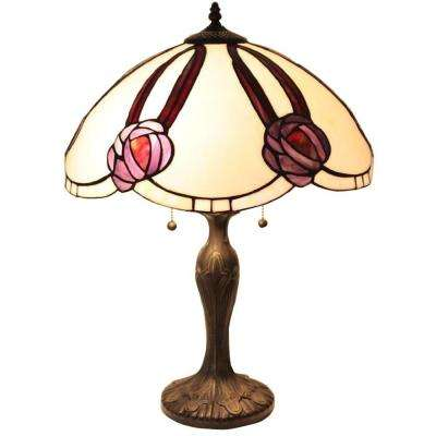 Tiffany Style Scalloped 23 in. Bronze Table Lamp