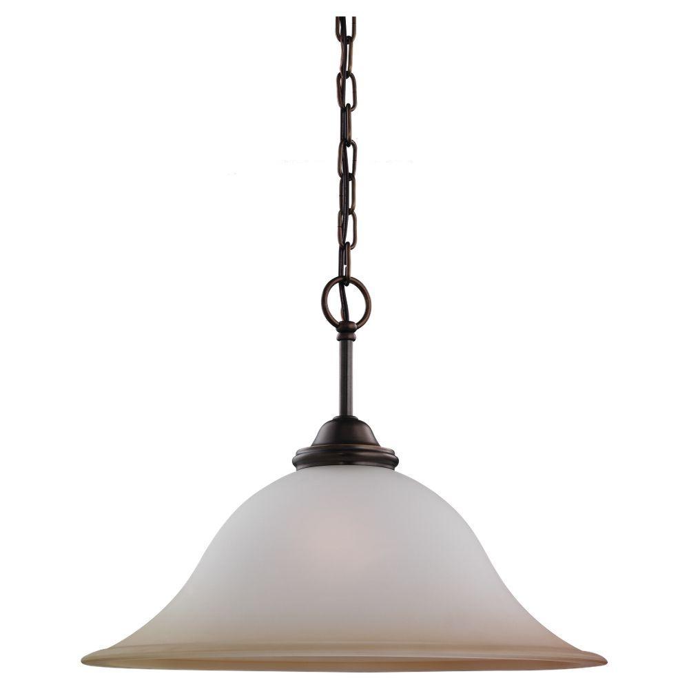Sea Gull Lighting Rialto 1-Light Russet Bronze Pendant