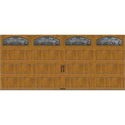 Gallery Collection 16 ft. x 7 ft. 18.4 R-Value Intellicore Insulated Ultra-Grain Medium Garage Door with Windows