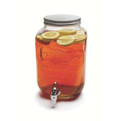 Yorkshire 2 Gal. Clear Glass Beverage Dispenser