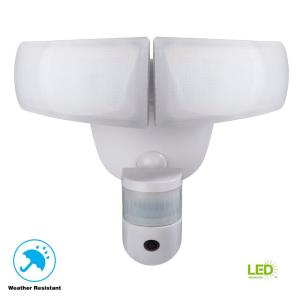 Defiant 180 176 White Led Wi Fi Video Motion Security Light