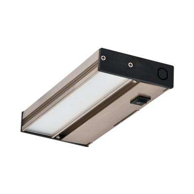 MAXCOR 8 in. Nickel LED Under Cabinet Lighting Fixture