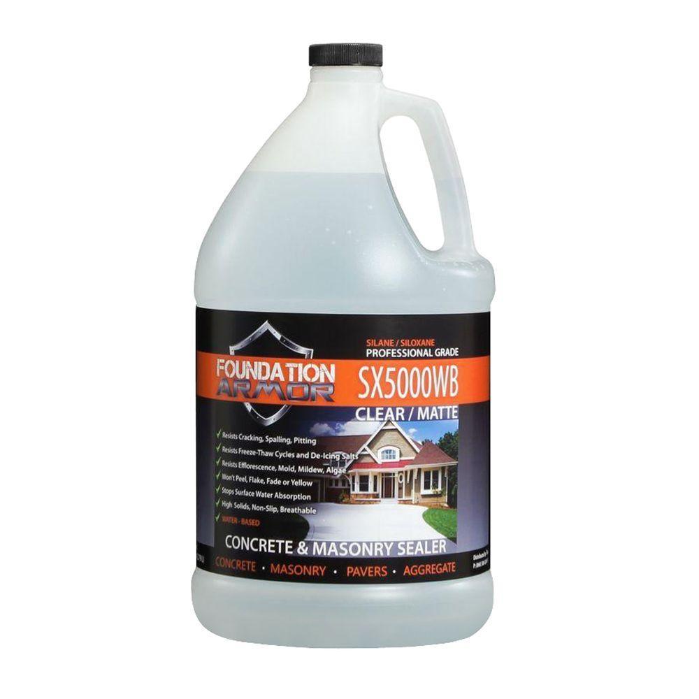 1 gal. Penetrating Water Based Silane Siloxane Concrete Sealer, Brick Sealer and Masonry Water Repellent