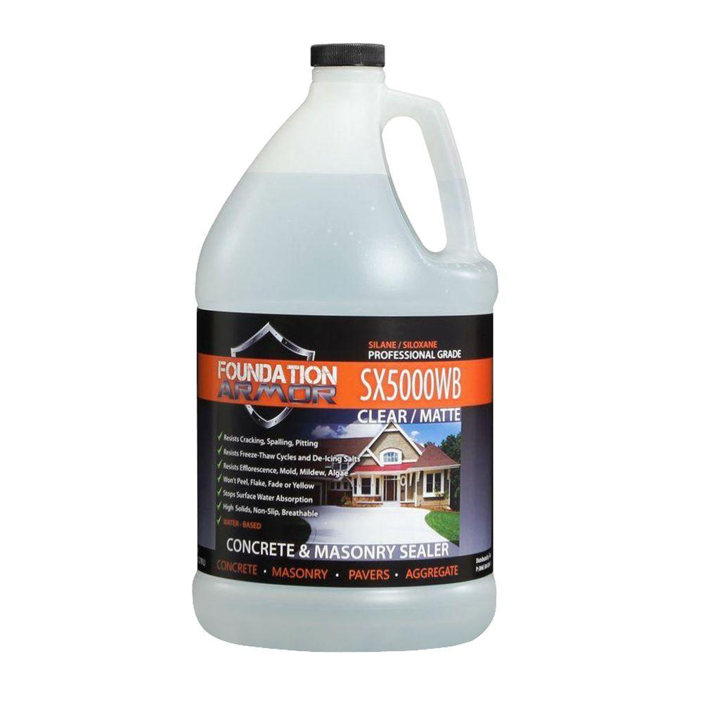 Foundation Armor 1 gal. Penetrating Water Based Silane Siloxane Concrete Sealer, Brick Sealer and Masonry Water Repellent
