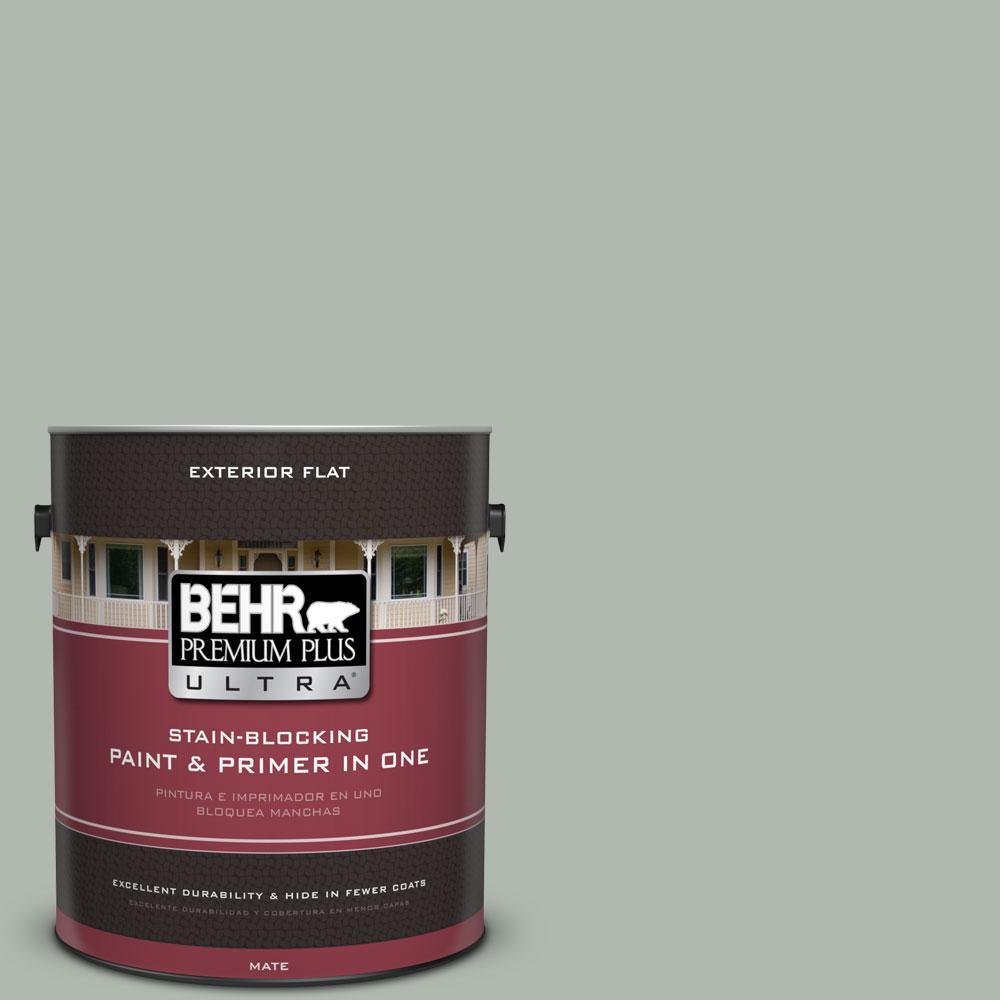BEHR Premium Plus Ultra 1-gal. #PPU12-14 Verdigris Flat Exterior Paint