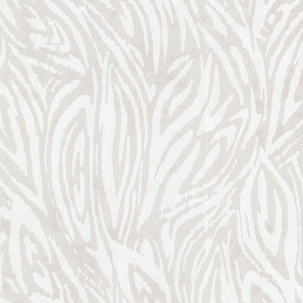 Tempest Silver Abstract Zebra Wallpaper