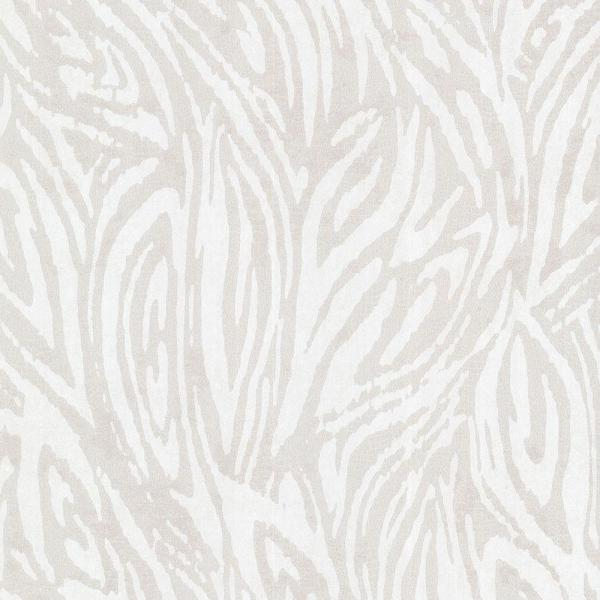 Kenneth James Tempest Silver Abstract Zebra Wallpaper