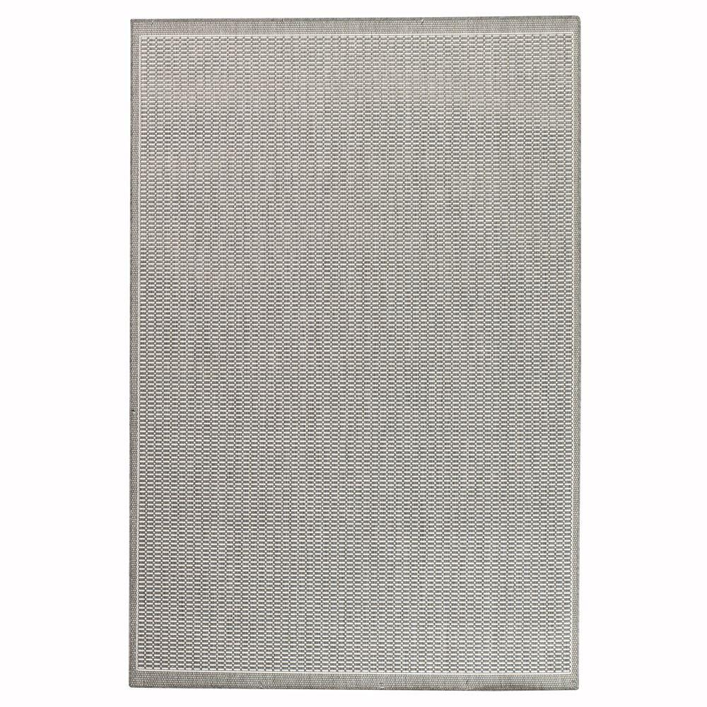 Home Decorators Collection Saddlestitch Gray/White 8 ft. 6 in. x 13 ft. Area Rug