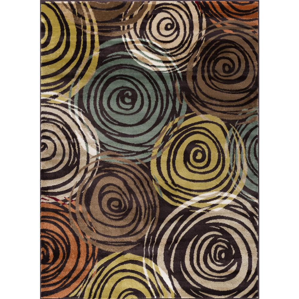 Tayse Rugs Deco Brown 8 Ft X 10 Contemporary Area Rug