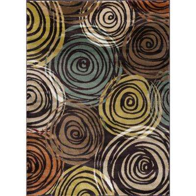 Deco Brown 8 ft. x 10 ft. Contemporary Area Rug