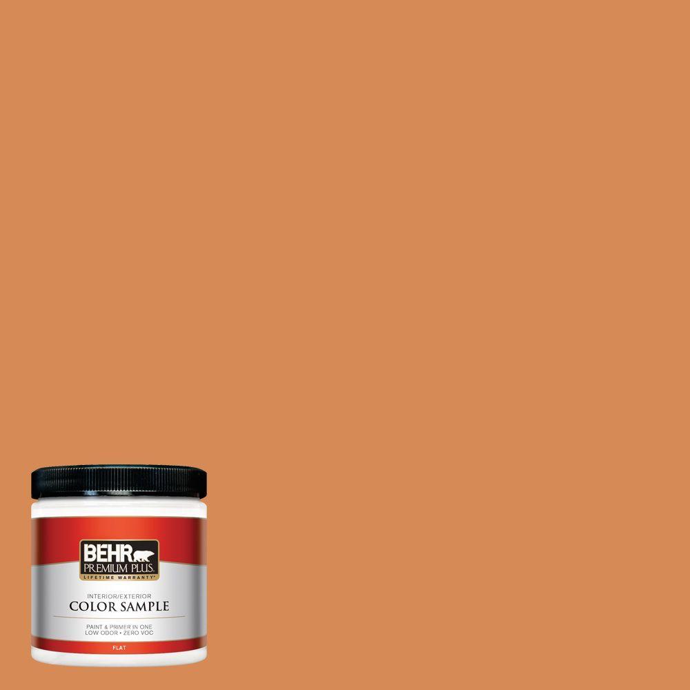 BEHR Premium Plus 8 oz. #PMD-80 Spiced Pumpkin Interior/Exterior Paint Sample
