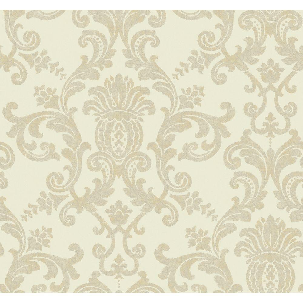 York Wallcoverings Silk Damask Wallpaper by York Wallcoverings