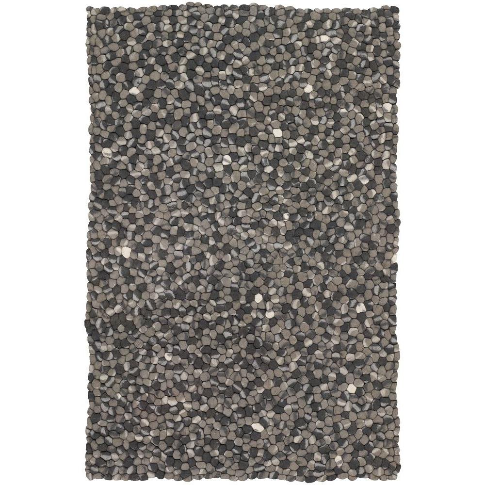 Stone Grey Taupe Ivory 5 Ft X 8 Indoor Area Rug