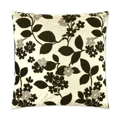 Winding Walk Feather Down 24 in. x 24 in. Standard Decorative Throw Pillow
