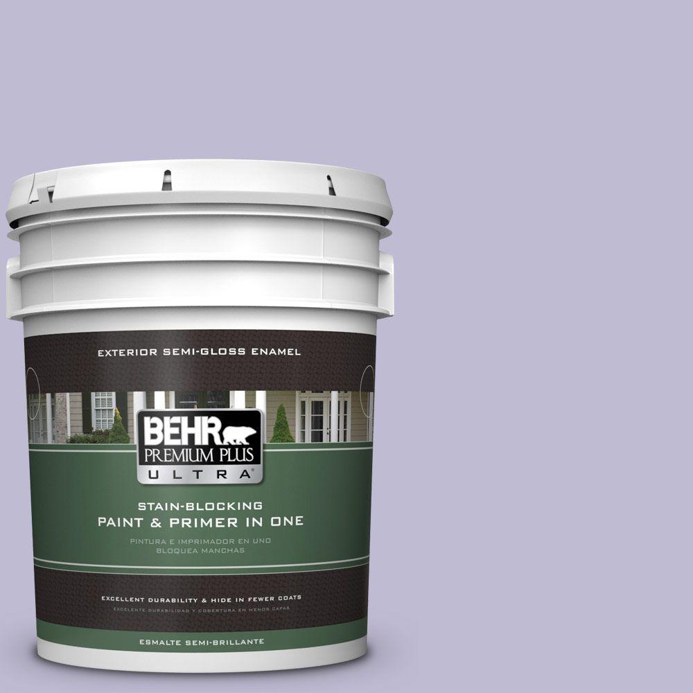 5-gal. #640C-3 Twilight Pearl Semi-Gloss Enamel Exterior Paint