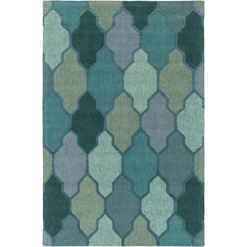 Pollack Morgan Green 9 ft. x 13 ft. Indoor Area Rug