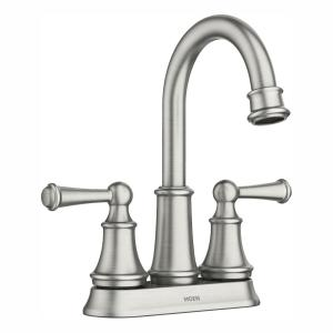 Brecklyn 4 in. Centerset 2-Handle Bathroom Faucet in Spot Resist Brushed Nickel